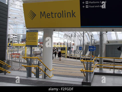 Victoria Metrolink Station in Manchester - Stock Photo