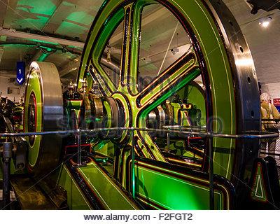Tower Bridge Engine Fly Wheel London England UK - Stock Photo