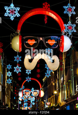 Carnaby street at night soho london uk europe stock photo for Christmas decoration 94