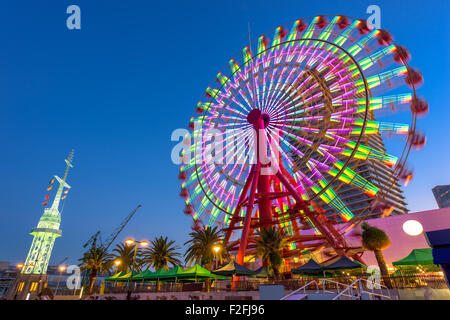 Kobe, Japan at the port Ferris Wheel. - Stock Photo