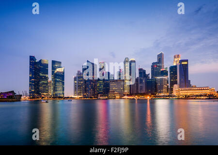Singapore skyline on Marina Bay. - Stock Photo