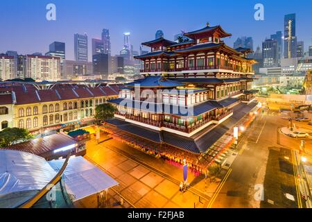 Singapore at the Buddha Tooth Relic Temple. - Stock Photo