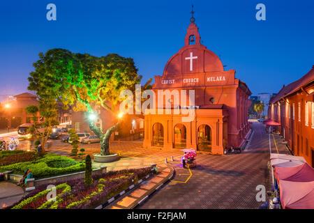 Christ Church Melaka in Malacca, Malaysia. - Stock Photo