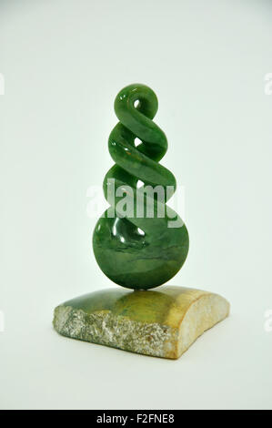 Jade carving, West Coast, South Island, New Zealand - Stock Photo