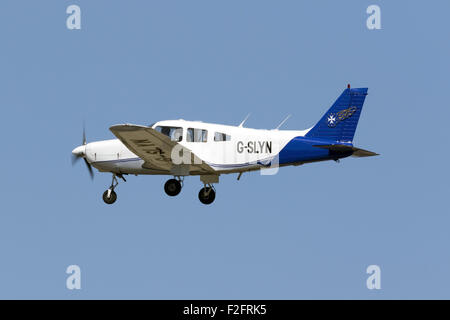 European Pilot Academy Piper PA-28-161 Warrior II performing training flights. - Stock Photo