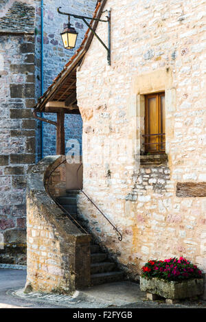 """A medieval village of Loubressac, """"one of the most beautiful villages of France"""", Lot, Midi-Pyrenees, France - Stock Photo"""