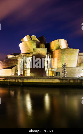 Guggenheim museum of modern and contemporary art, designed by Frank Gehry, Bilbao, Biscay, Spain - Stock Photo