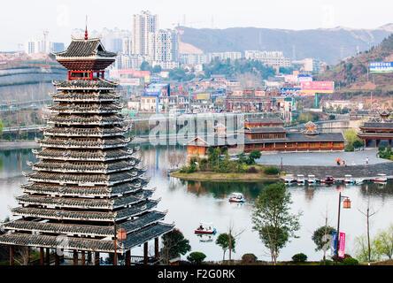 City of Kaili, Guizhou, China - Stock Photo