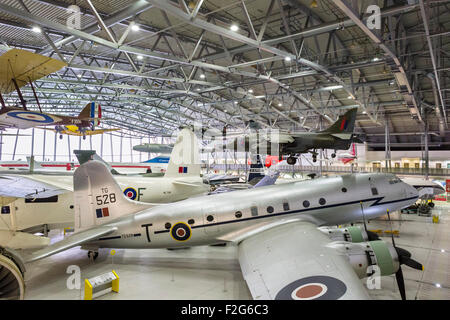 The AirSpace hangar at the Imperial War Museum, Duxford, Cambridgeshire, England, UK - Stock Photo