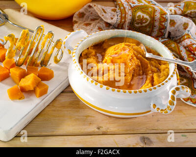 Mashed sweet potatoes - Stock Photo