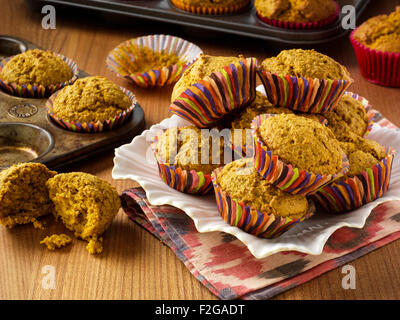 Sugar free bran muffins - Stock Photo