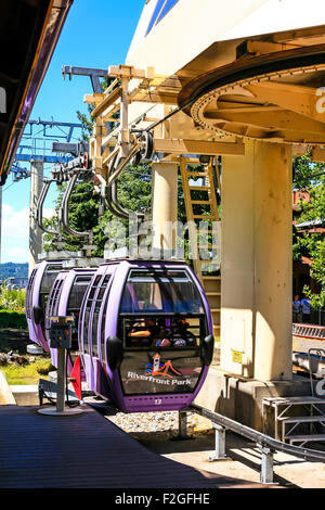 """The Riverfront Park Skyride in Washington. One of the Top 12 Scenic Cable Rides in the World"""" in 2013 by Conde Nast - Stock Photo"""