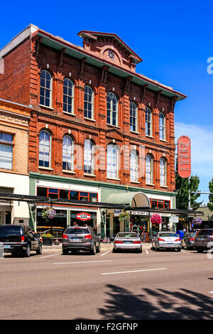 The Reed Opera House building on Liberty Street in Salem Oregon. - Stock Photo