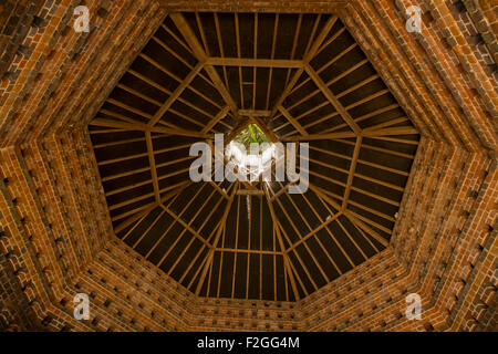 Inside the dovecote at Felbrigg Hall. - Stock Photo