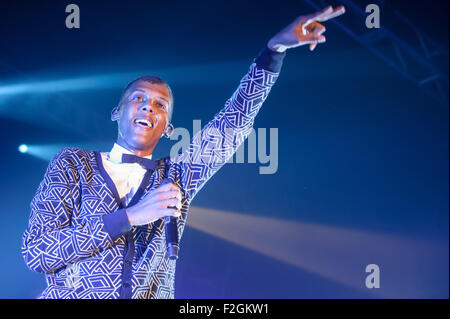 Washington, D.C, USA. 16th Sep, 2015. STROMAE performs at Echostage in Washington, DC His 2009 single ''Alors on - Stock Photo