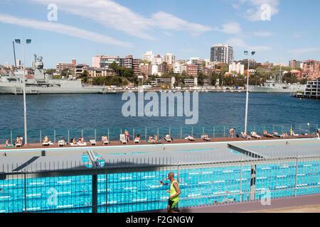 Andrew Boy Charlton Open Air 50m Swimming Pool At Woolloomooloo Stock Photo 87649309 Alamy