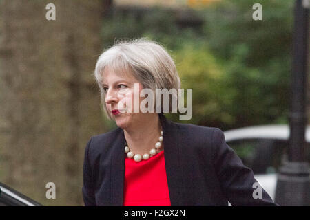 Westminster London,UK. 20th October 2015. Home  Secretary Theresa May MP attends the weekly cabinet meeting at Downing - Stock Photo