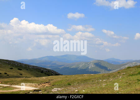 Babele and the Sphinx of Bucegi Mountains in Busteni - Romania - Stock Photo