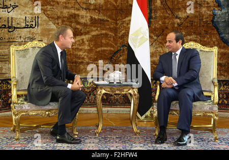 Cairo, Egypt. 19th Sep, 2015. A handout picture made available by the Egyptian Presidency on September 19, 2015, - Stock Photo