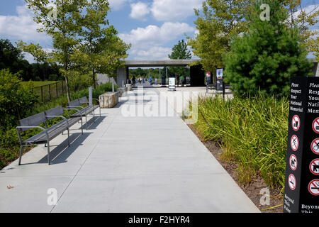 Flight 93 National Memorial entrance - Stock Photo