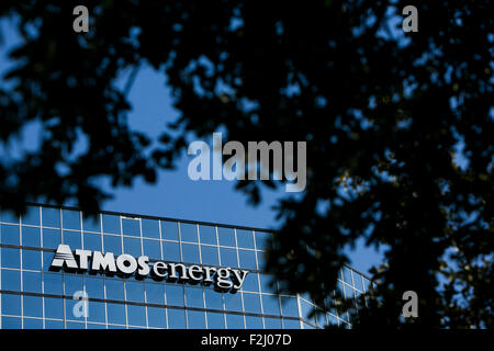 A Logo Sign Outside Of The Headquarters Atmos