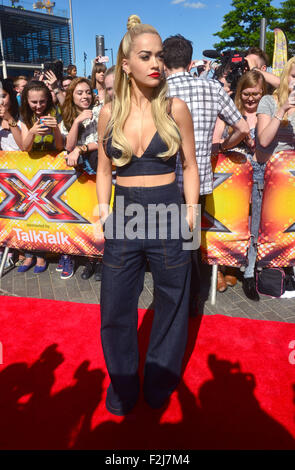 The X Factor - London Auditions at the SSE Arena Wembley in London, England. 19th July 2015  Featuring: Rita Ora - Stock Photo