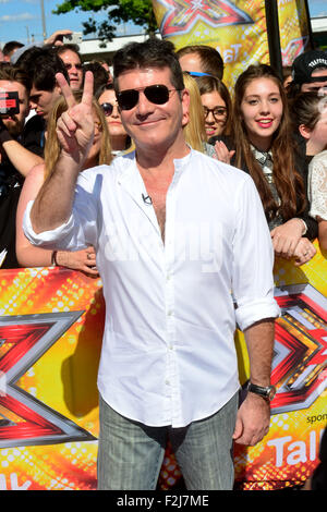 The X Factor - London Auditions at the SSE Arena Wembley in London, England. 19th July 2015  Featuring: Simon Cowell - Stock Photo