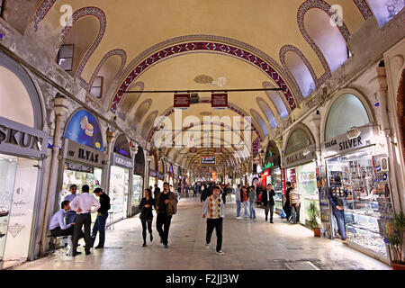 Kapali Carsi (means 'Covered Market'), the Grand Bazaar of Istanbul, one of the major attractions of this glorious - Stock Photo
