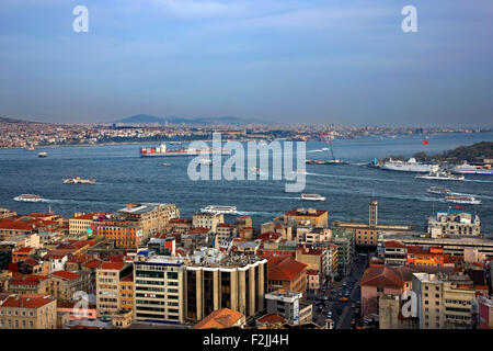 View of Istanbul from Galata tower. Turkey - Stock Photo