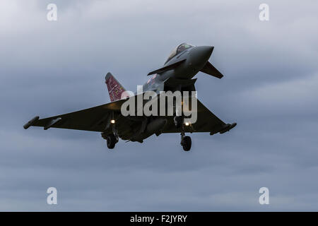 RAF Typhoon on final approach - Stock Photo