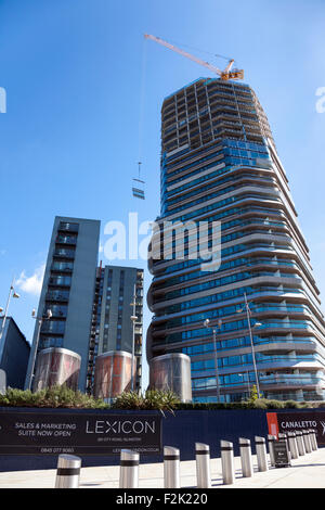 20th September 2015 - construction site of Lexicon and Canaletto in Old Street - new residential buildings - Stock Photo