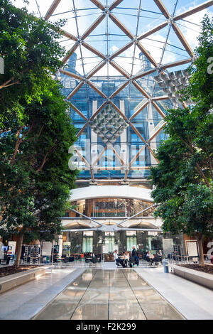 Interior Atrium of Portcullis House in Westminster, London, UK - Stock Photo