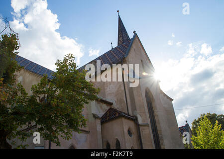 SIBIU - SEPTEMBER 09: Evangelical Cathedral in the center of Sibiu, city designated the European Capital of Culture - Stock Photo