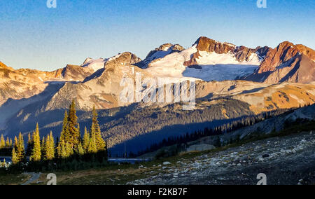 Armchair Glacier at Whistler Blackcomb in Canada - Stock Photo