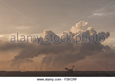 brown coal surface mine - Stock Photo