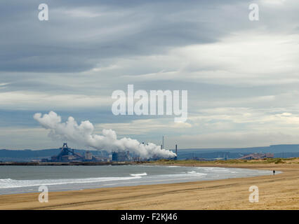Redcar SSI steelworks blast furnace and coke ovens. Redcar, north east England - Stock Photo