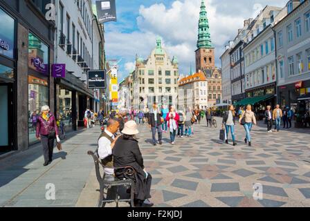 Amagertorv square, Strøget, Copenhagen, Denmark - Stock Photo
