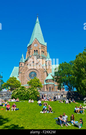 Sofia Kyrka, Sofia church, Vitabergsparken, Södermalm district, Stockholm, Sweden - Stock Photo