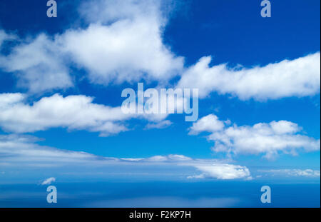 clound over ocean natural empty background - Stock Photo