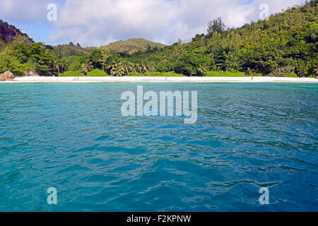 Anse Georgette beach, Praslin Island, Seychelles - Stock Photo