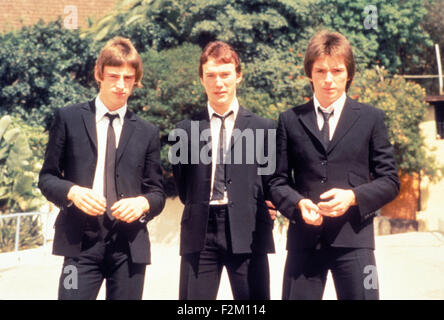 THE JAM UK rock group about 1978.  From left Bruce Foxton, Rick Buckler, Paul Weller - Stock Photo