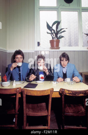 THE JAM UK rock group about 1979 from left Bruce Foxton, Rick Buckler and Paul Weller - Stock Photo