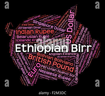 Ethiopian Birr Meaning Foreign Currency And Exchange - Stock Photo
