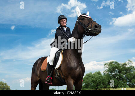 Rider on horse - Stock Photo