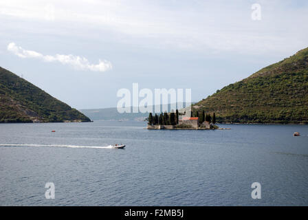 the lady of the rock island in Kotor bay Montenegro - Stock Photo