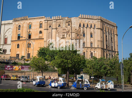 The Palazzo dei Normanni palace in Palermo, Sicily. Italy. - Stock Photo