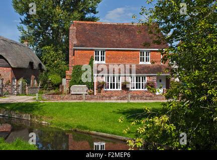 Village of Cheriton, Hampshire, England - Stock Photo
