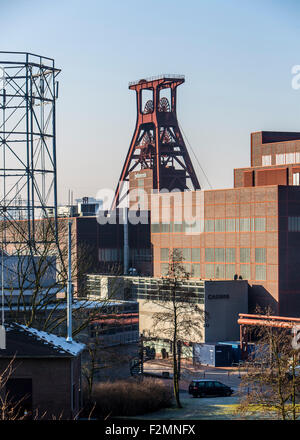 World Heritage Zollverein coal mine in Essen, double winding tower shaft 12, Casino Hall - Stock Photo