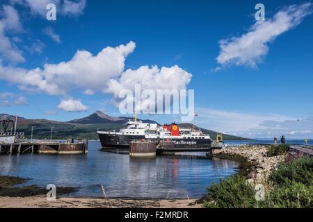 Brodick ferry terminal on the Isle of Arran - Stock Photo