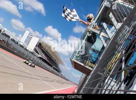 Austin, TX, USA. 19th Sep, 2015. Austin, TX - Sep 19, 2015: Oswaldo Negri (60) drives his Michael Shank Racing Honda - Stock Photo